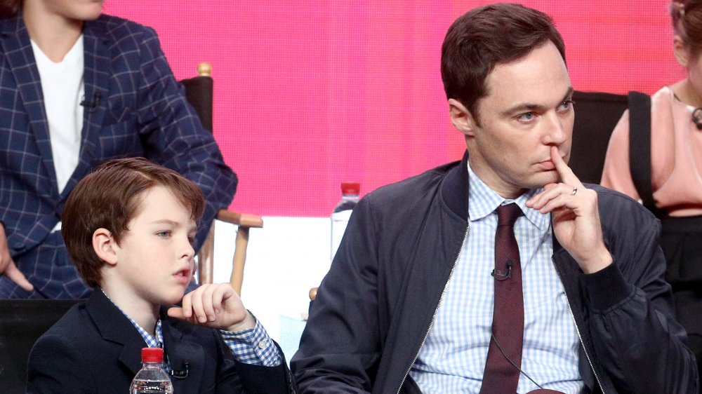 Iain Armitage and Jim Parsons at the 2017 Summer TCA Press Tour