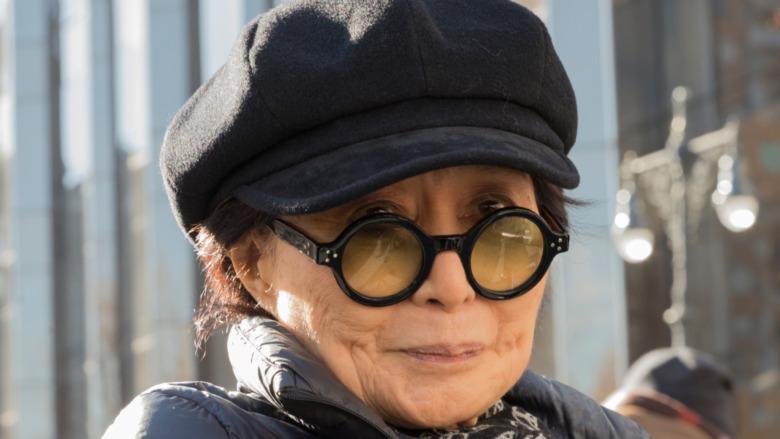 Yoko Ono smiling