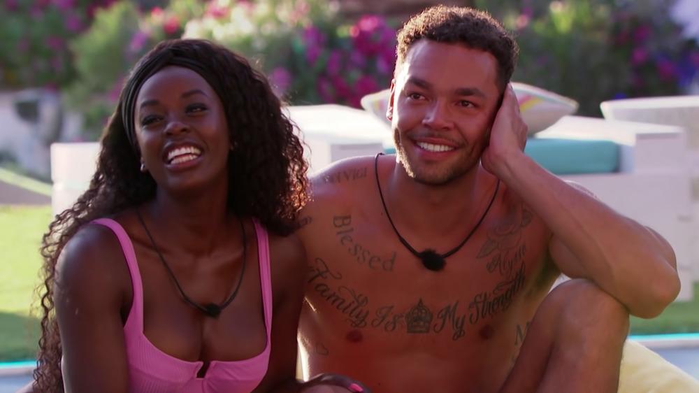 Justine and Caleb from Love Island USA