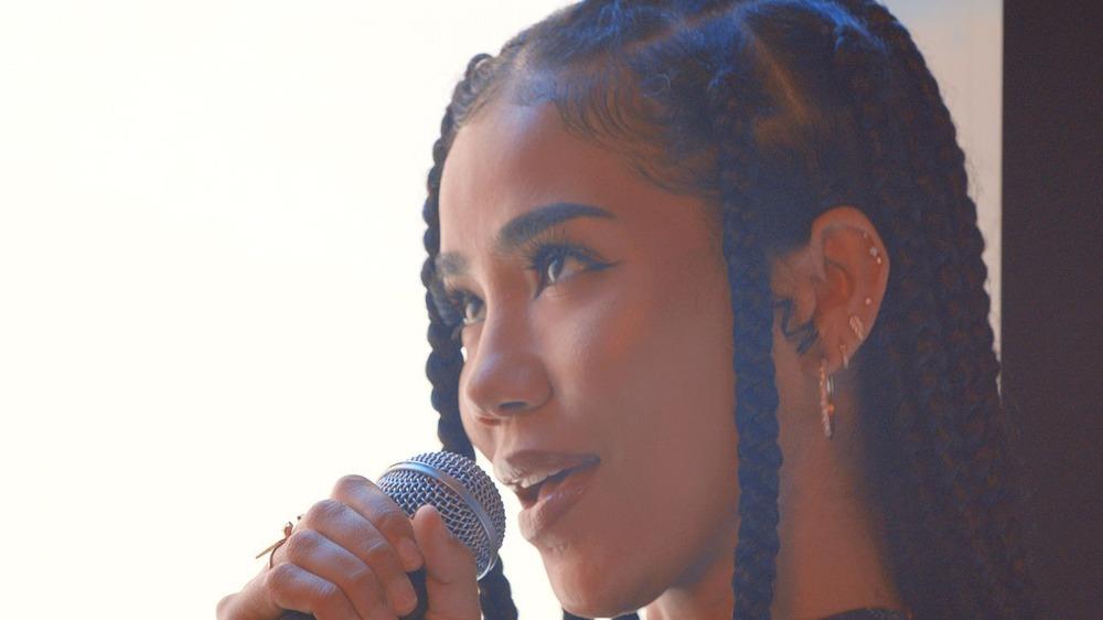 Jhene Aiko performs at BET awards