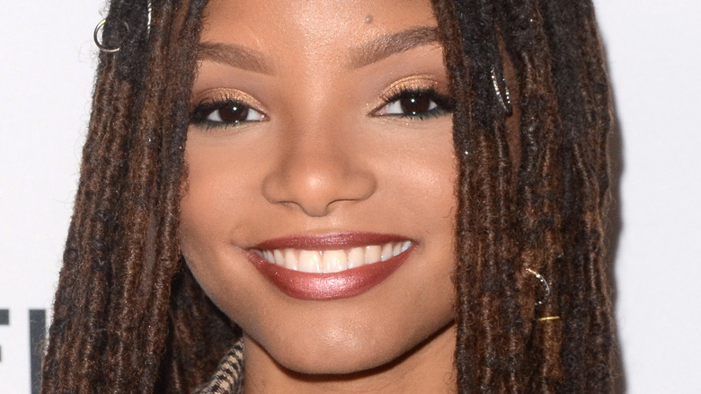 Halle Bailey smiling