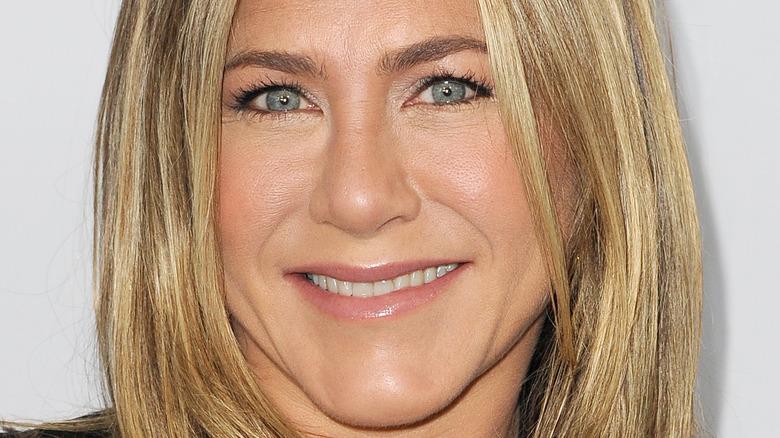 Jennifer Aniston smiling on the red carpet