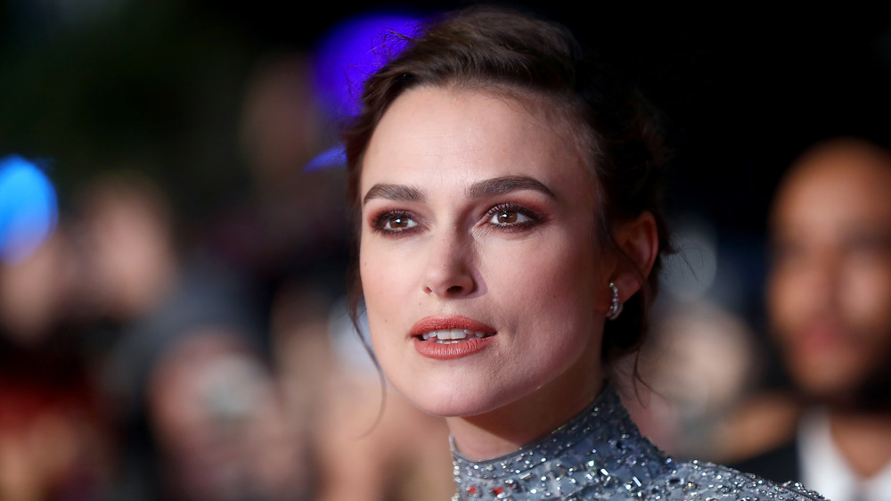 Keira Knightley dons an updo at a red carpet event
