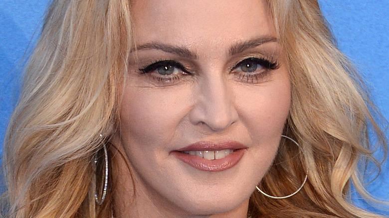 Madonna smiling broadly