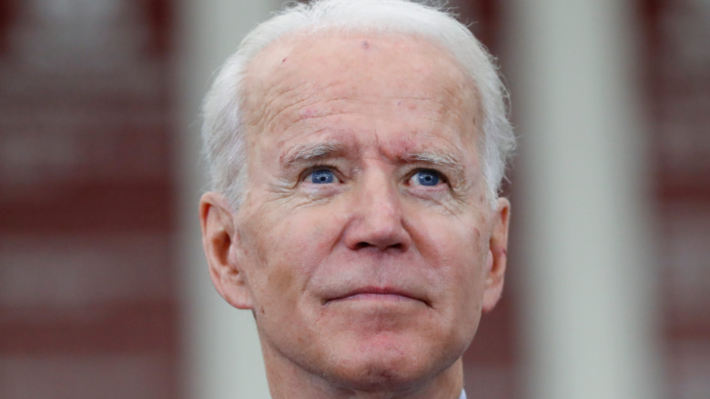 Joe Biden starting into the distance