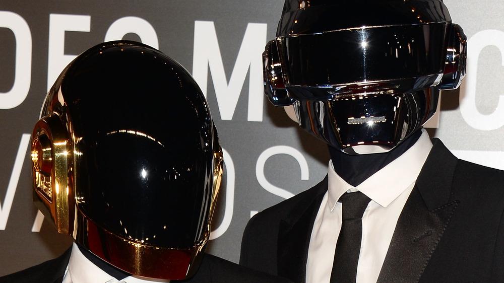 Daft Punk posing
