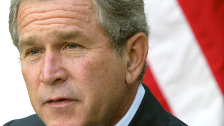 George Bush speaking at an event while president
