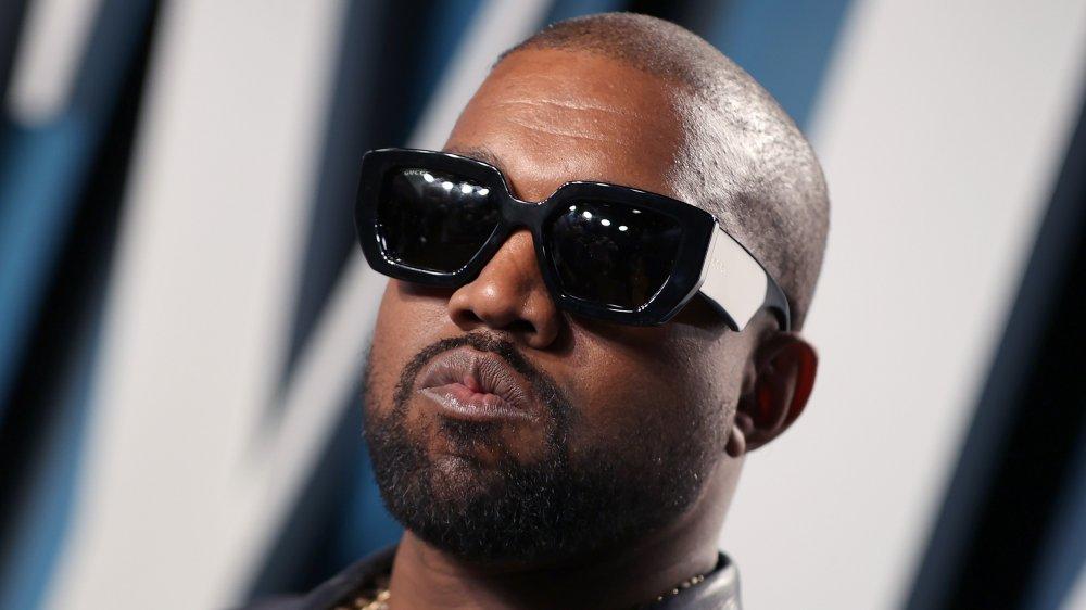 Kanye West at the 2020 Vanity Fair Oscar Party