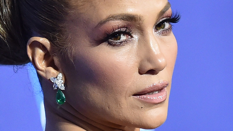Jennifer Lopez gazing in front
