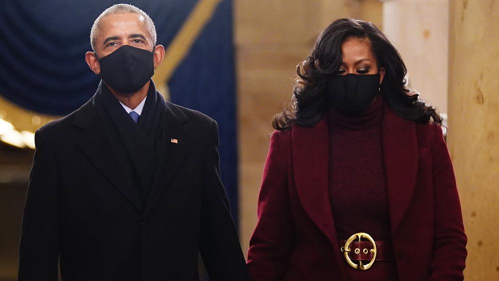 Former President Barack Obama and former First Lady Michelle Obama at President Joe Biden's Inauguration