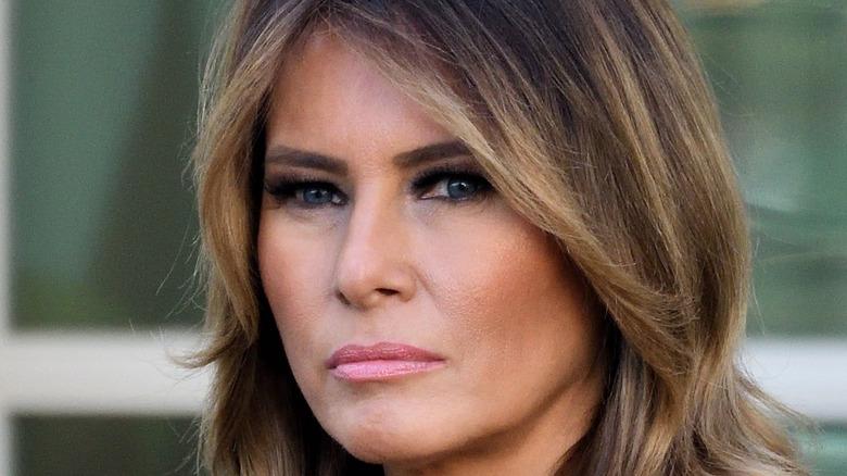 Melania Trump looking serious