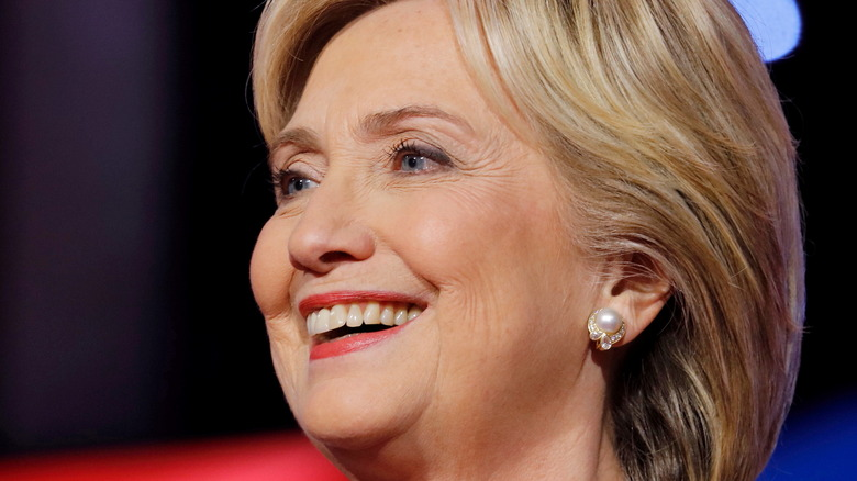 Hillary Clinton smiling at an event