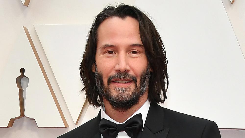 Keanu Reeves smiling