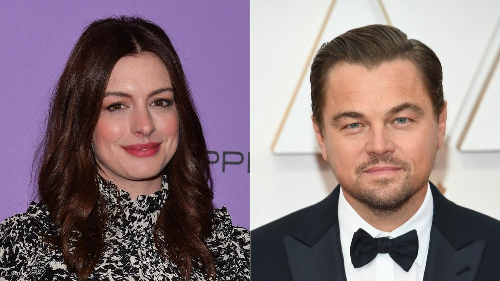 Anne Hathaway and Leonardo DiCaprio red carpet