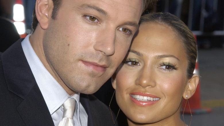 Ben Affleck and Jennifer Lopez smiling