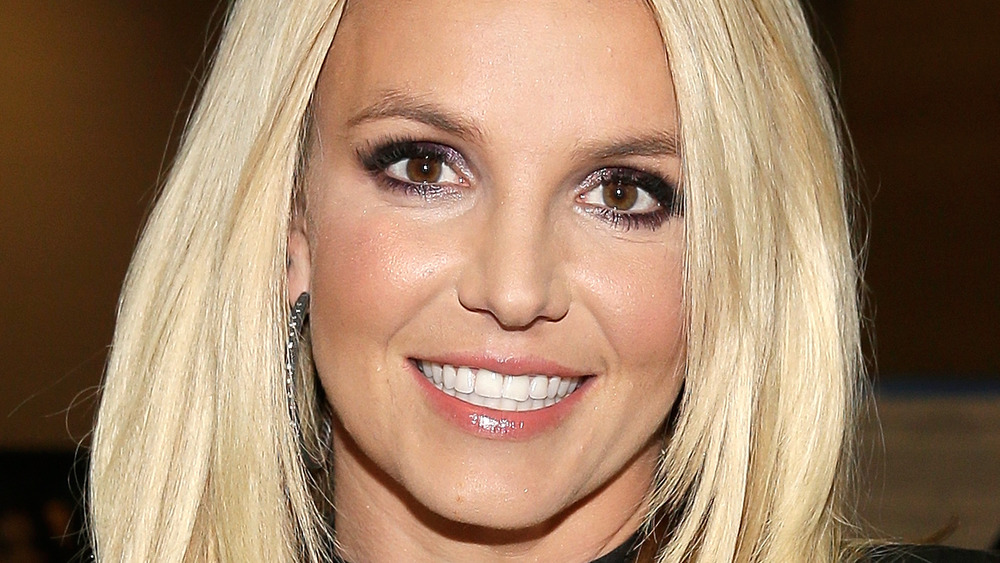 Britney Spears smiling at an event