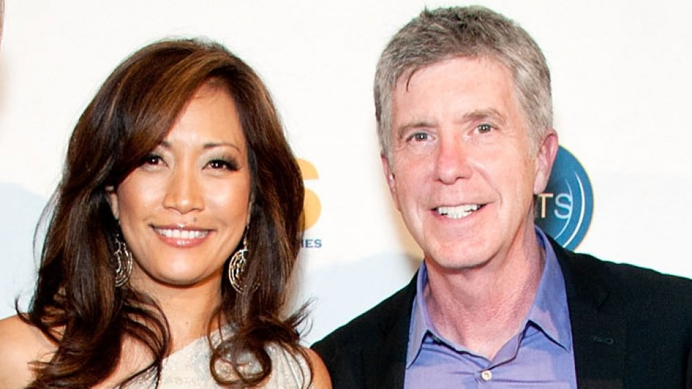 Carrie Ann Inaba and Tom Bergeron
