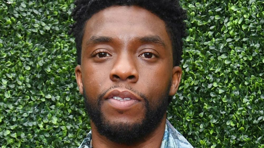 Chadwick Boseman posing