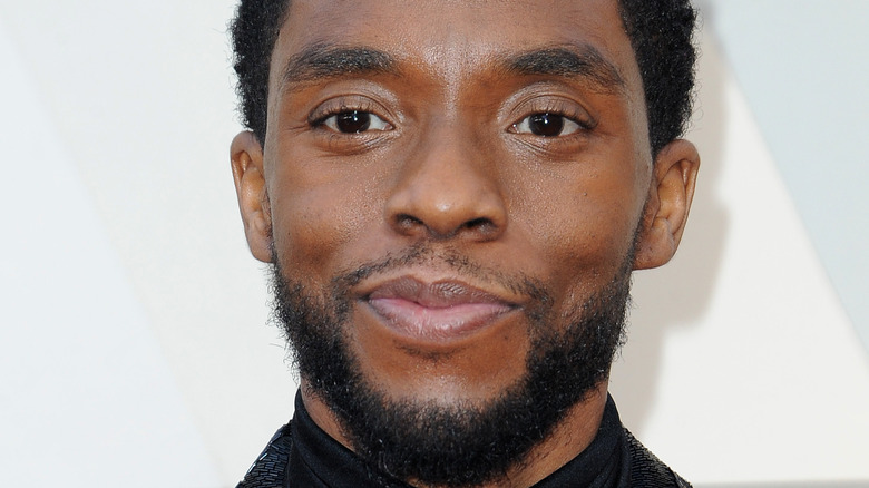 Chadwick Boseman on the red carpet