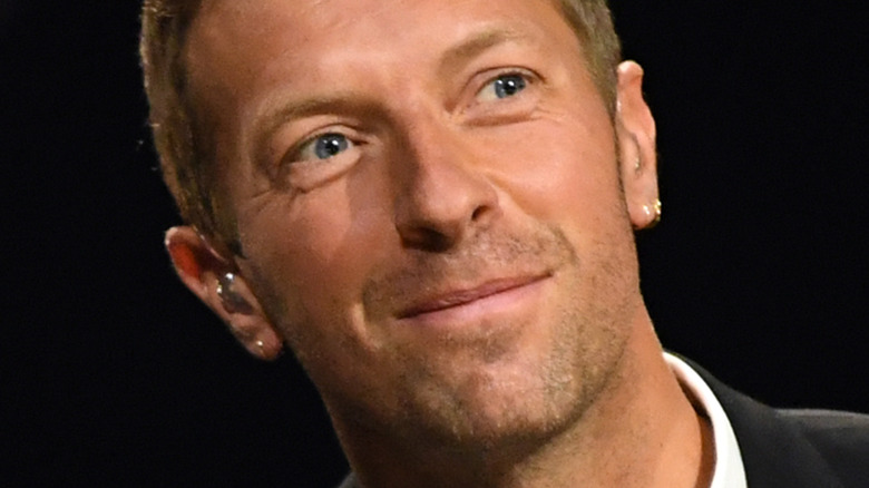 Chris Martin performs on stage