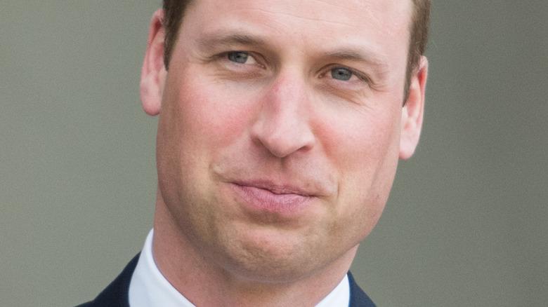 Prince William posing