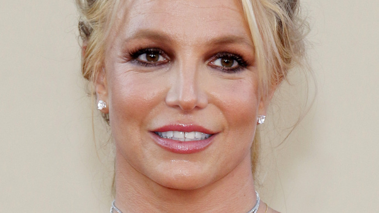 Britney Spears smiling on red carpet