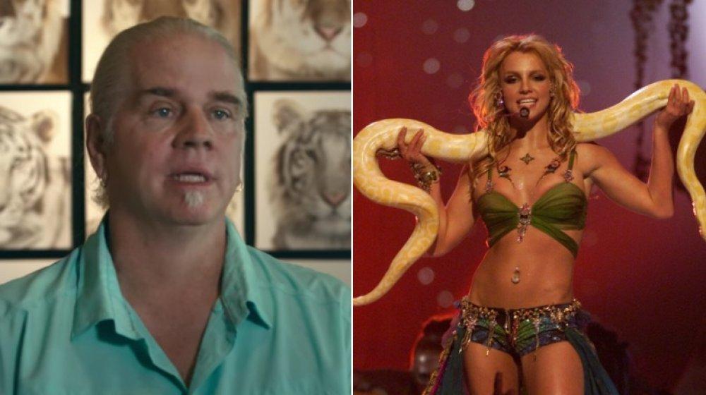 Doc Antle of Tiger King; singer Britney Spears