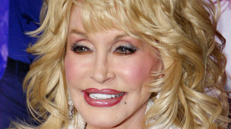 dolly parton feathered hair lip liner