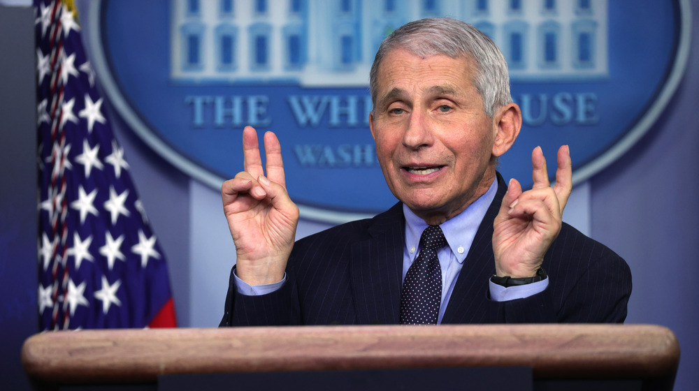Dr. Fauci using quotation marks