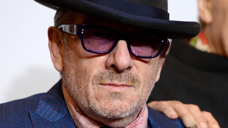 Elvis Costello accepts an award