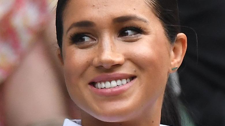 Meghan Markle smiling in October 2020