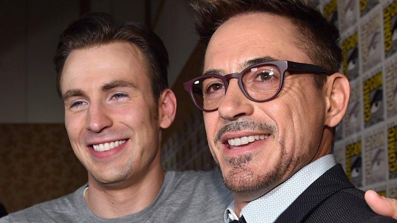 Avengers stars Chris Evans and Robert Downey Jr.
