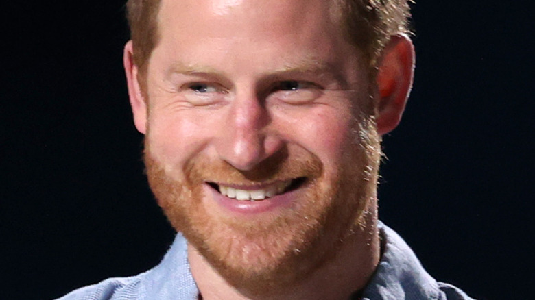 Prince Harry at a speaking engagement