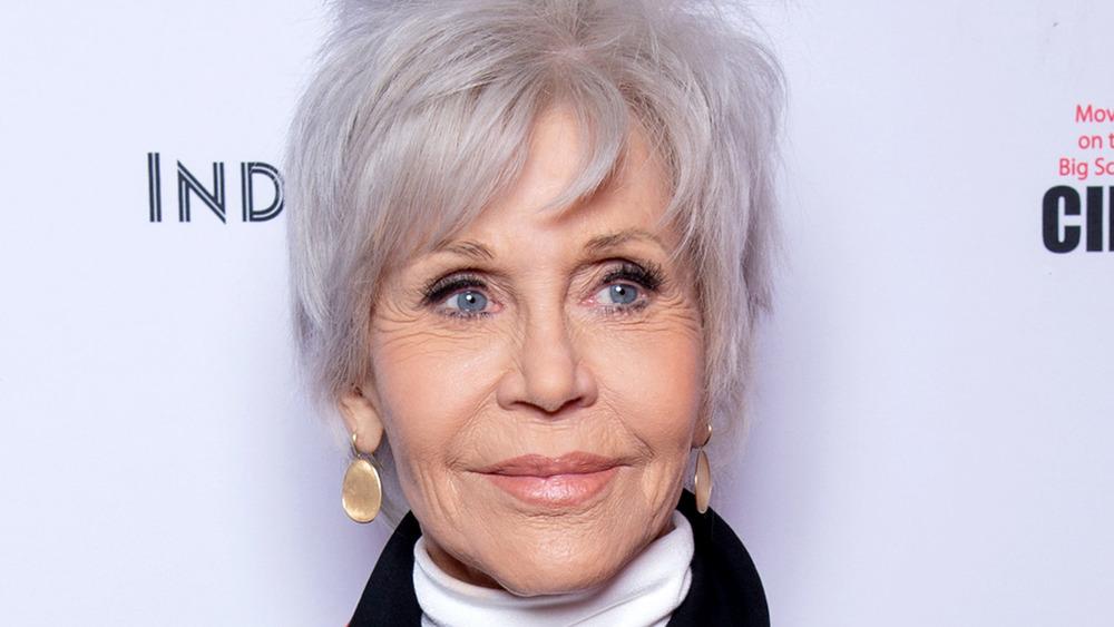 Jane Fonda smiling on the red carpet
