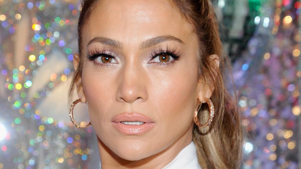 Jennifer Lopez with a neutral expression