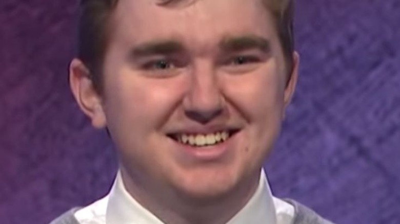 Brayden Smith smiling while on Jeopardy!