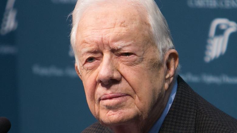 Jimmy Carter speaking at Carter Center