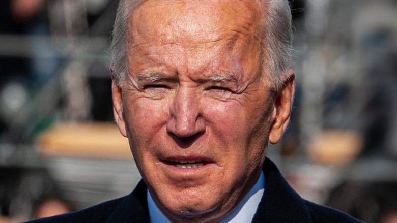 Joe Biden at his inauguration