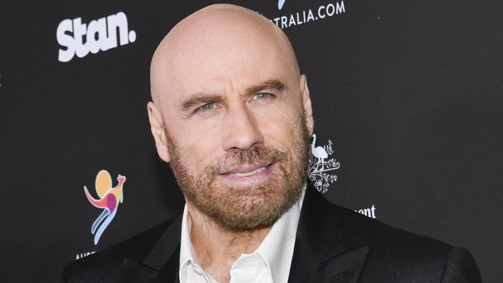 John Travolta arrives at G'Day USA 2020   Standing Together Dinner