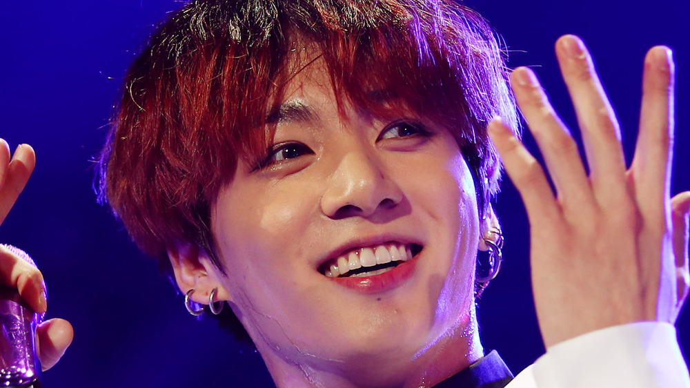 Jungkook from BTS on stage