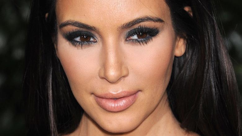 Kim Kardashian looking away