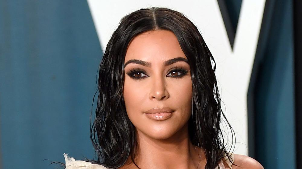 Kim Kardashian at the 2020 Vanity Fair Oscar Party