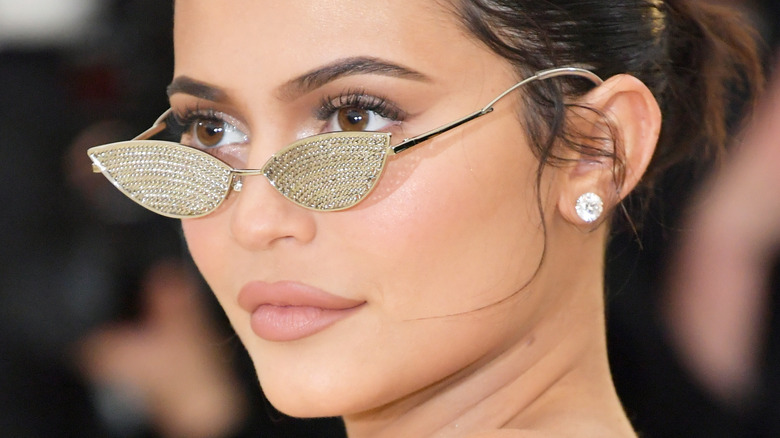 Kylie Jenner posing at the Met Gala