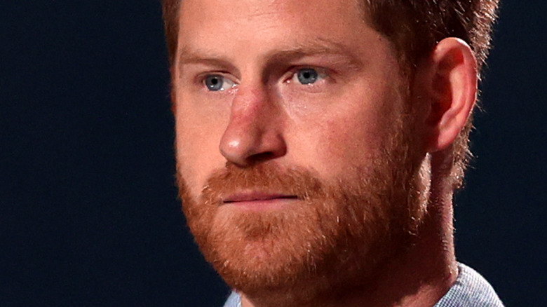 Prince Harry speaking at event