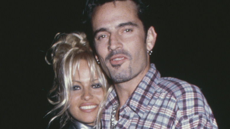 Pamela Anderson and Tommy Lee smiling