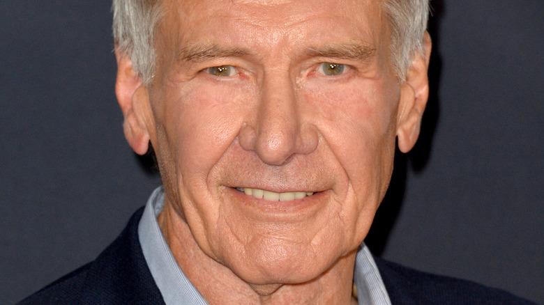 Harrison Ford smiling slightly