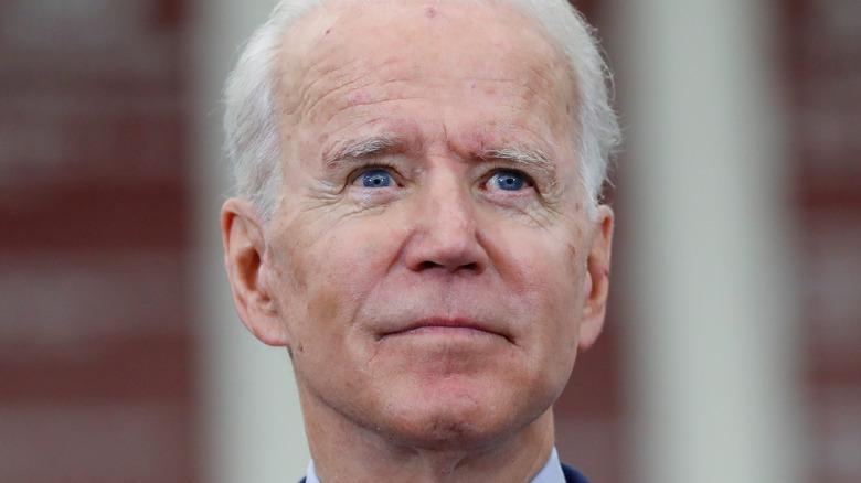 Joe Biden distant gaze