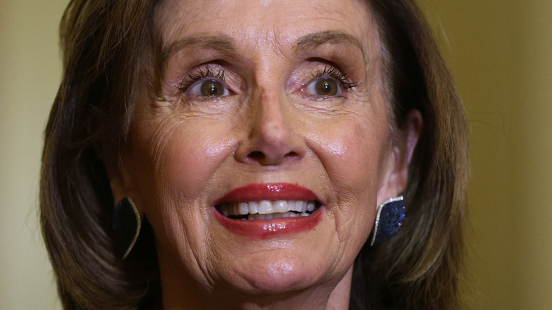 Nancy Pelosi smiling