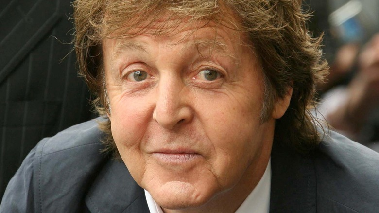 Paul McCartney staring in front
