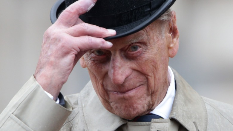 Prince Philip smiling for a photo